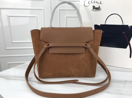 Celine mini Belt Bag Suede Leather A98310 brown