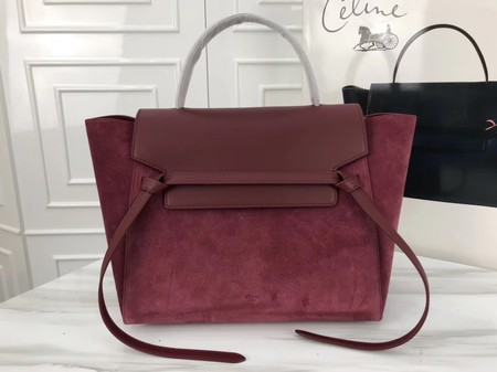 Celine Belt Bag Origina Suede Leather A98311 wine