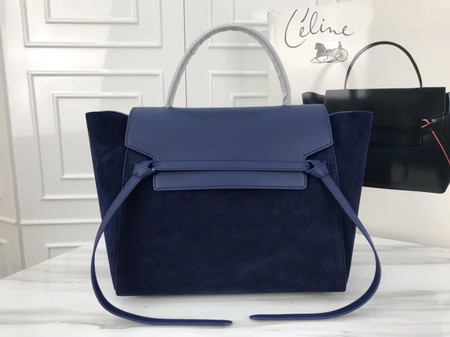 Celine Belt Bag Origina Suede Leather A98311 Dark blue