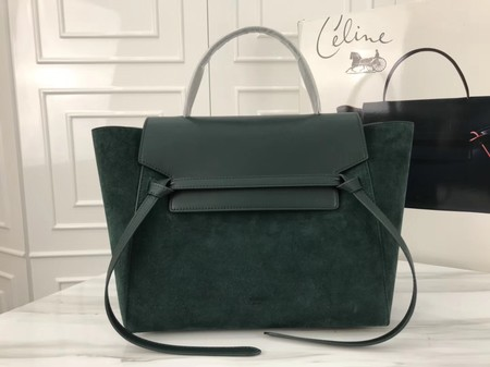 Celine Belt Bag Origina Suede Leather A98311 green