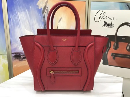 Celine Luggage Micro Original Leather Tote Bag M3308 red
