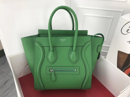 Celine Luggage Micro Original Leather Tote Bag M3308 green