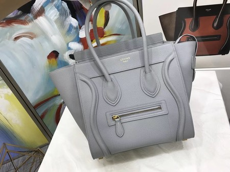 Celine Luggage Micro Original Leather Tote Bag M3308 Light gray