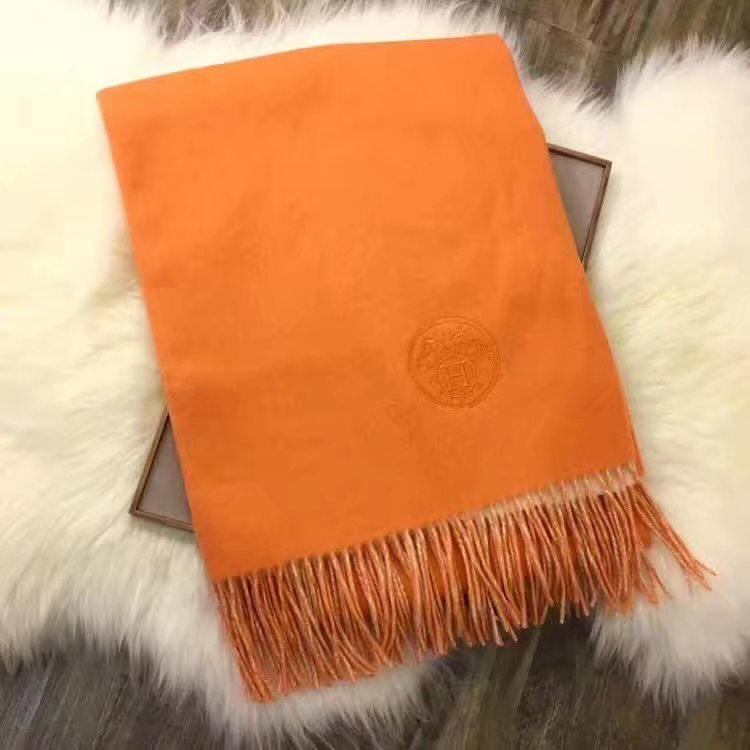 Hermes Cashmere wool scarf H919368