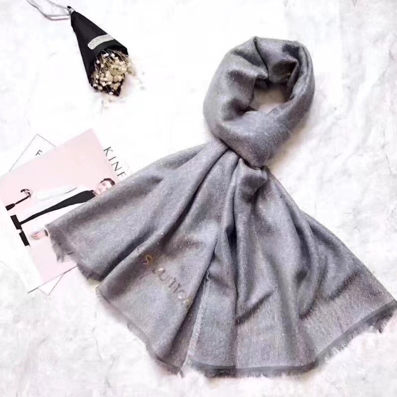 louis vuitton wool scarf LV919968 gray