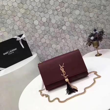 26f007089e Yves Saint Laurent Monogramme Cross-body Shoulder Bag L2819 Wine