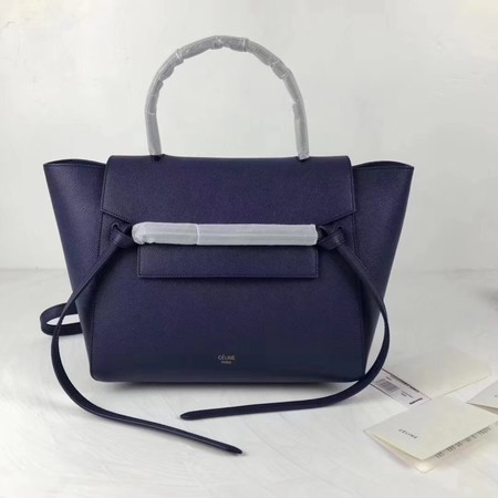 Celine Belt Bag Original Leather Tote Bag 9984 dark blue