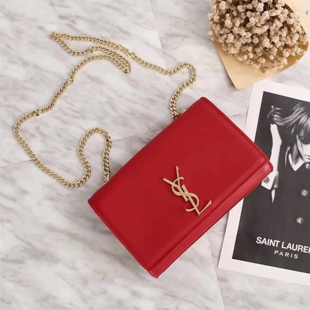 Yves Saint Laurent Monogramme Cross-body Shoulder Bag 311228 red
