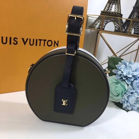 Louis Vuitton PETITE BOITE CHAPEAU M43510 Dark green with white