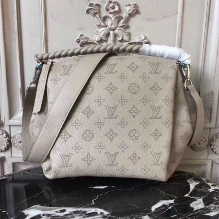 Louis Vuitton original Mahina Leather BABYLONE CHAIN BB 51223 grey