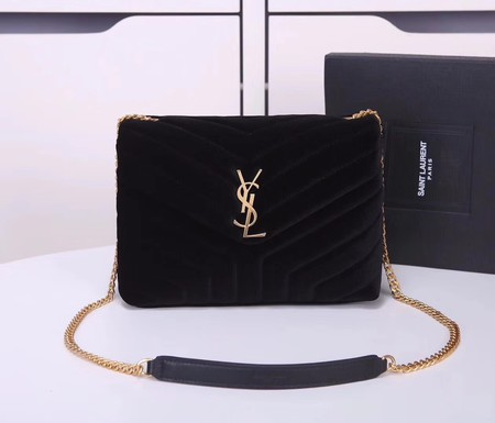 Yves Saint Laurent hot style shoulder bag Velvet 487218 black
