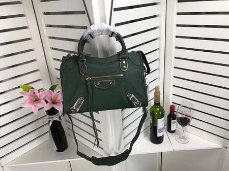 e45dafc3ac Balenciaga The City Handbag Sheepskin 084335 green