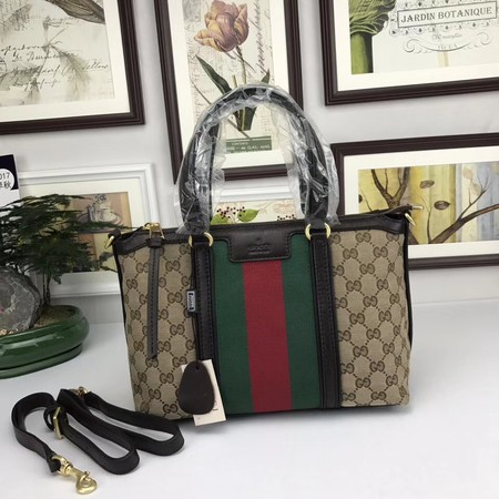 Gucci GG Canvas Top Handle Bags 353114 Coffee