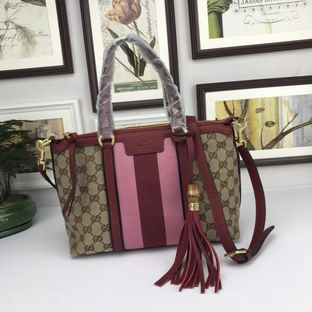 Gucci GG Canvas Top Handle Bags 353114 red