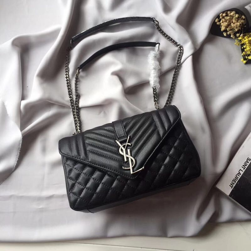 Yves Saint Laurent Shoulder Bag 498125 Black