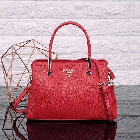 7dd6d6c7d7 Prada Calfskin Leather Tote Bag 0902 Cherry