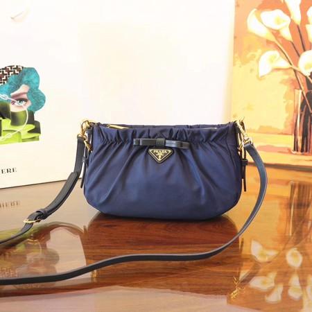 a684edf0d0 Prada Nylon cloth casual bag BN2043 blue