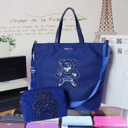8ecca4a15d Prada Nylon cloth casual bag BN2834 blue