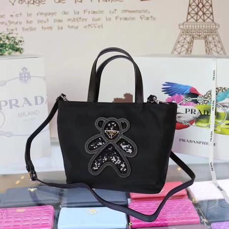 99fc3fd028 Prada Nylon cloth casual bag N2835 black