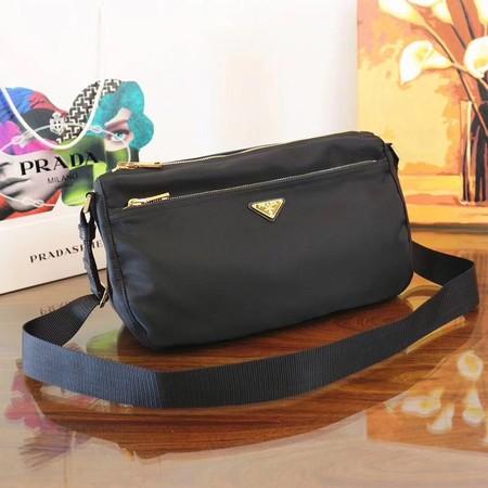 8ffd6da2a9 Prada Nylon cloth casual bag BT0742 black