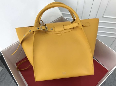 Celine the big bag calf leather Tote Bag  183313 yellow