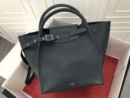Celine the big bag calf leather Tote Bag 183313 Dark grey