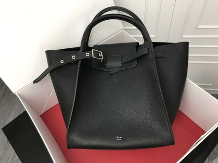 Celine the big bag calf leather Tote Bag A183313 Black