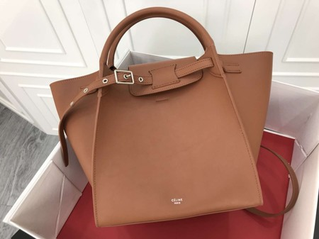 Celine the big bag calf leather Tote Bag 183313 apricot