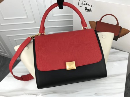Celine Trapeze Bag Original Leather 3342 Red white black