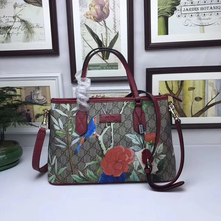 GUCCI GG Supreme Blooms Tote Bag 429019 red