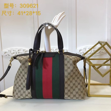 Gucci GG Canvas Top Handle Bags 309621 Brown