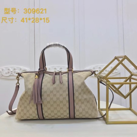 Gucci GG Canvas Top Handle Bags 309621 pink