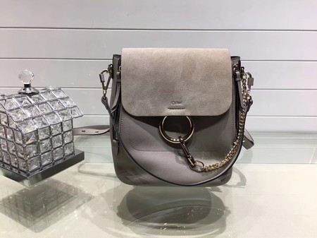 Chloe Faye original suede leather Backpack C4756 grey