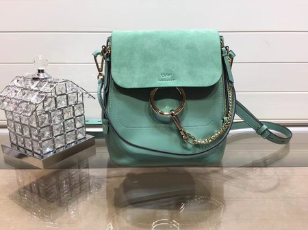 Chloe Faye original suede leather Backpack C4756 green