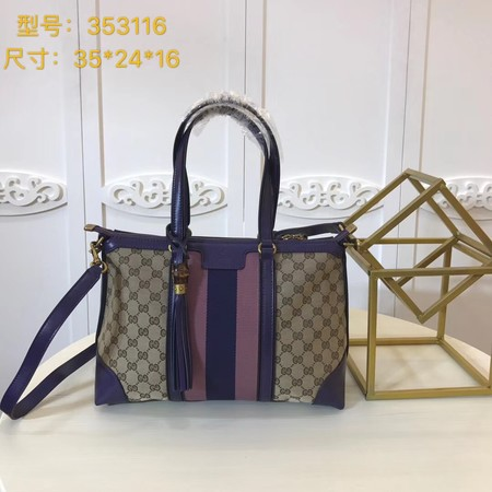 Gucci GG Canvas Top Handle Bags 353116 purple