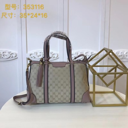 Gucci GG Canvas Top Handle Bags 353116 pink