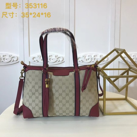 Gucci GG Canvas Top Handle Bags A353116 red