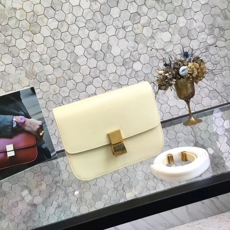 Celine Classic Box Small Flap Bag Calf leather 5698 yellow