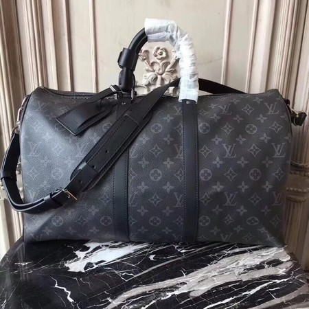 Louis Vuitton Monogram Canvas Keepall 41418 black
