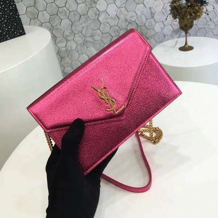 ysl small kate satchel original Calf leather 2822 rose Gold chain