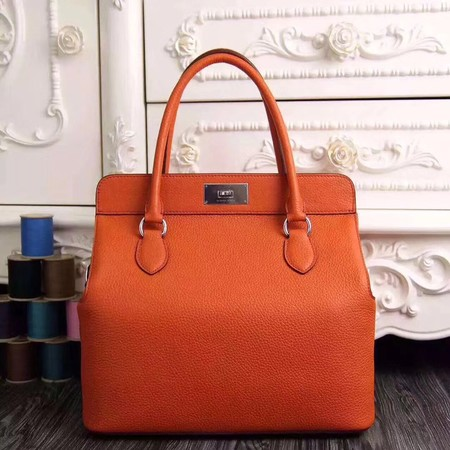 Hermes original leather toolbox handbag 3069 orange