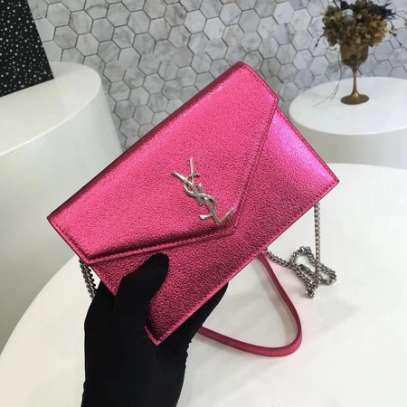 ysl small kate satchel original Calf leather 2822 rose silver chain