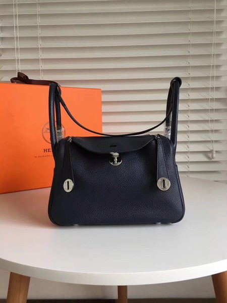 Hermes Lindy togo Original Leather Shoulder Bag 5086 black