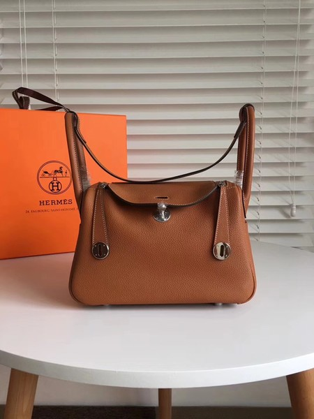 Hermes Lindy togo Original Leather Shoulder Bag 5086 brown