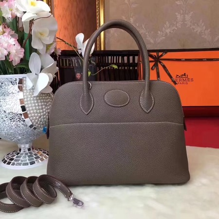 Hermes Bolide Original Togo leather Tote Bag HB31 Elephant grey