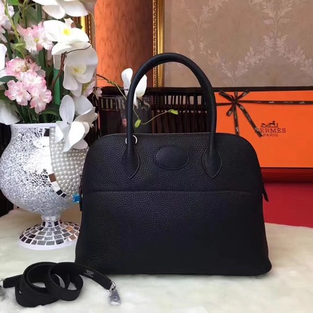 Hermes Bolide Original Togo leather Tote Bag HB31 Black