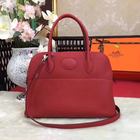 Hermes Bolide Original Togo leather Tote Bag HB31 red