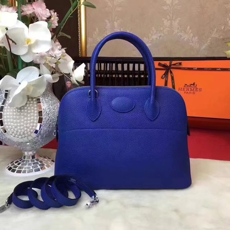 Hermes Bolide Original Togo leather Tote Bag HB31 blue