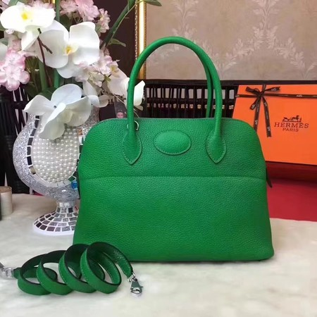 Hermes Bolide Original Togo leather Tote Bag HB31 green