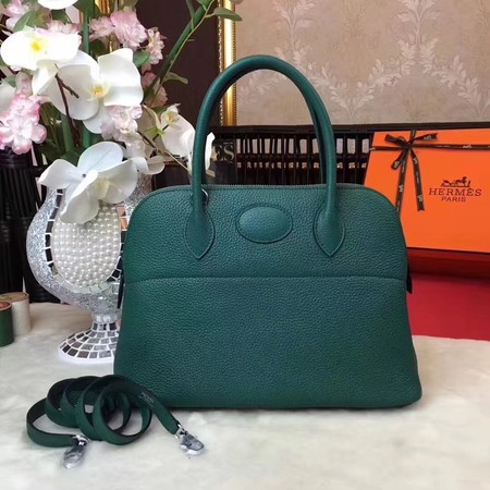 Hermes Bolide Original Togo leather Tote Bag HB31 Blackish green